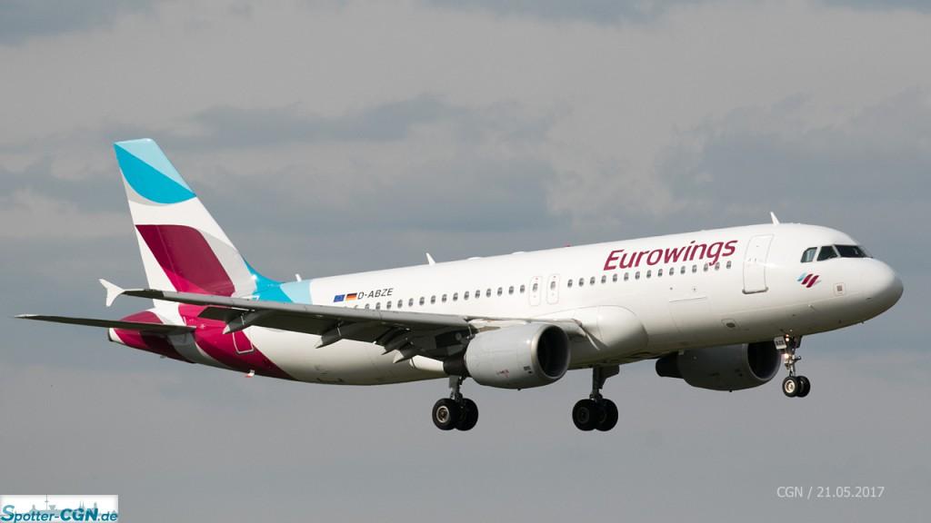 Letzte Änderung: 06.11.2018, Eurowings Flottenliste (A319/A320)